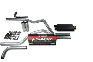 Chevy Gmc 1500 07 14 2 5 Dual Exhaust Kit Flowmaster 50 Series Clamp Tip Side