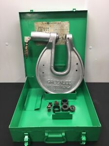 Greenlee 1731 h 767 C Frame One shot Hydraulic Knockout Driver Set W Dies