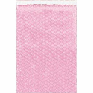 Top Pack Supply Anti static Bubble Pouches 10 X 15 1 2 Pink pack Of 250