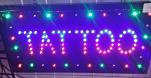 Bright New Design Tattoo For Business Led Neon Sign Display