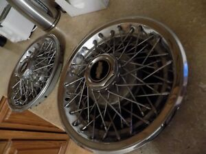Pair Of 1980 S Chevrolet Caprice Wire Spoke Hub Caps Wheels