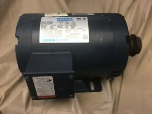 Leeson 2hp 3 Phase 522869 115299 C6t17db65c Electric Motor Auger Drive 1740 Rpm