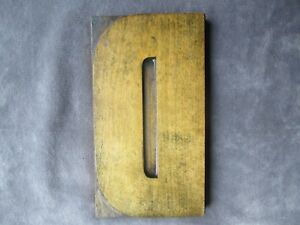 Antique Letterpress Wood Type Large Letter D