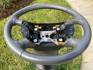 1994 2004 Ford Mustang Steering Wheel Gray Leather W Cruise Switches Oem