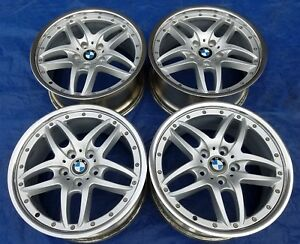 Bmw E36 46 M3 Oem Cromodora Style 71 Staggered 18 Polished 2 piece Wheels Rims