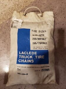 Laclede Truck Tire Snow Chains New Stock No 2228r