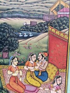Rare Antique Indian Hand Painted Watercolour Miniature Painting