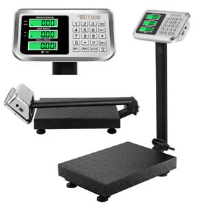 Us 100 0 1kg 220lb Digital Shipping Postal Scale Floor Platform Stainless Weight