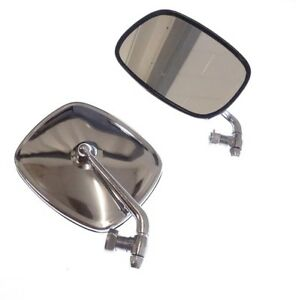 Vw Bus 1968 1979 Chrome Mirror Set Pair Left And Right New Transporter Van