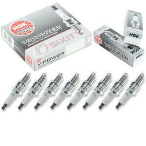 8 Pcs Ngk V Power Spark Plugs For 1979 1989 Aston Martin Lagonda 5 3l V8 Wk