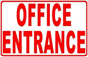 Office Entrance Sign Size Options Entry Enter Business Metal