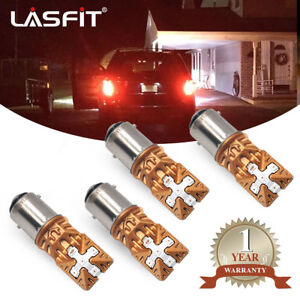 Lasfit Bay15d 1157 2057 2357 Pure Red Led Tail Brake Stop Light Bulb Replacement