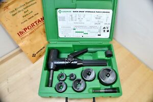 Greenlee 7906sb Quick Draw 90 Hydraulic Knockout Punch Driver Kit Slug Buster