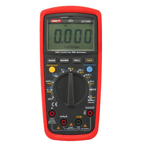 Uni t Ut139c 2 6 Lcd True Rms Digital Multimeter 2 X Aa