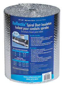 Reflectix Dw1202504 Spiral Duct Wrap Silver