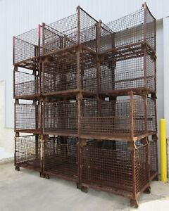 Lot Of 22 Wire Mesh Storage Bins Am16585