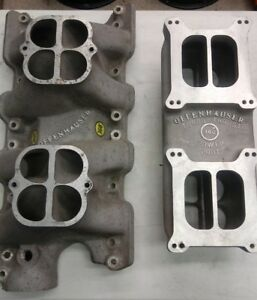 New Boss 302 Offenhauser Dual Quad Tunnel Ram Intake Manifold Ford Nos