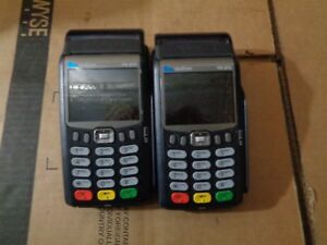 Lot Of 2 Verifone Vx675 3g Wireleaa Handheld Payment Terminal Pos