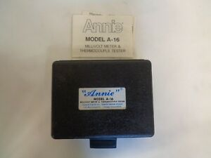 New Imperial Eastman Annie Model A 16 Millivolt Meter Thermocouple Tester