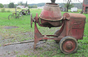 Jaeger Antique Concrete Mixer W International Harvester Lb Hit And Miss Engine