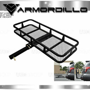 2 Hitch Cargo Carrier Basket Style Fold Up Black Accessories Trailer Hitches