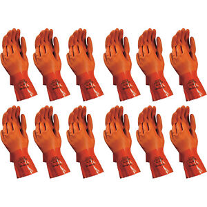 Atlas 620 Vinylove Double dipped Medium Pvc Chemical Resistant Gloves 12 pairs