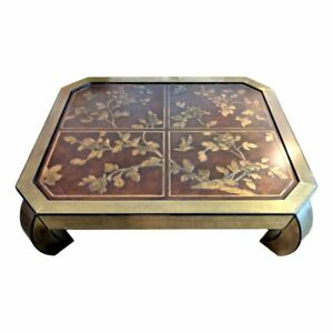 Mastercraft Rare Hollywood Regency Chinoiserie Ming Coffee Table Asian Chow Mcm
