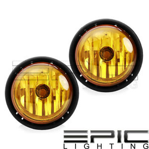 Amber Lens Fog Lamps For 2000 2008 Freightliner Columbia Left Right Sides Pair