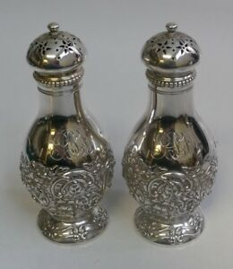 Gorham Sterling Silver Repousse Salt Pepper Shaker S Model Number 2900