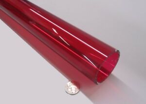 Acrylic Tube Red 2423 Extruded 2 00 Od X 1 75 Id X 72 Length