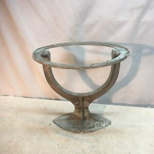 Vintage Cast Iron Industrial Steampunk Hot Water Heater Stand Planter Base Tool