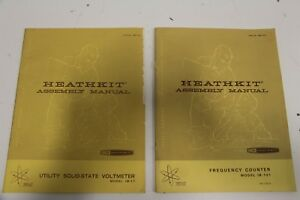 Pair Of Heathkit Im 17 Ib 101 Utility Solid State Voltmeter Frequency Counter