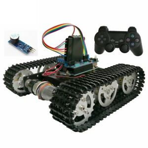 Ps2 Joystick T100 Wireless Control Smart Tank Chassis With Arduino Uno R3 Motor