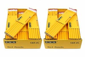 Skkstationery Pencils 2 Hb 144 box Yellow Wood Pencil Great Office Supplies