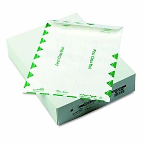 Quality Park Tyvek Envelopes First Class 9 X 12 Inches White Box Of 100