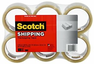 Scotch Shipping Packaging Tape 1 88 In X 109 Yd Clear 6 Rolls pack