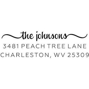 Custom Return Address Stamp The Johnsons Personalized Address Stamp