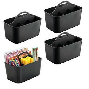 Mdesign Office Supplies Desk Organizer Tote For Notebooks Highlighters Pens