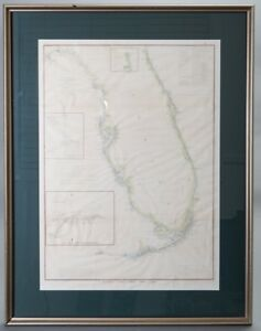 Antique Survey Map Florida With Keys United States Coast Survey 1848 1855