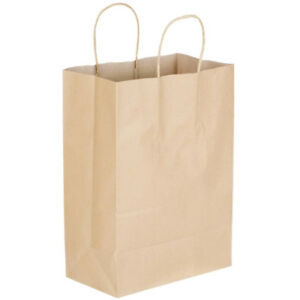 Kraft Paper Bag 8 x4 5 x 10 5 With Twist Paper Handles Pack 250 Per Case