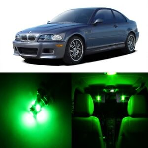 16 X Green Led Interior Light Package For 1999 2005 Bmw 3 Series M3 E46 Tool