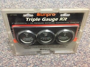 Sunpro Mechanical Triple Gauge Set Cp7995 2 Inch