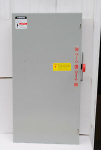 Siemens Nf224dtk Double Throw Transfer Switch 200 a 240 v 2 pole Non fused