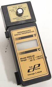 Cole Parmer 8500 40 Thermocouple Digital Thermometer Range 112 To 199 9 f