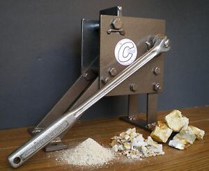 Rock Crusher Hand Operated Jaw Type Geological Assay Frit Pick the Crunch
