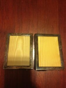 Webster Sterling Silver Picture Frames 3 5 X 2 5 A Pair