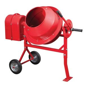 1 1 4 Cubic Ft Portable Cement Mixer free Shipping