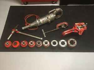 Ridgid 700 Pipe Threader Kit 12r Dies 2a Cutter 775 Support Arm 2 s Reamer 1 8 2