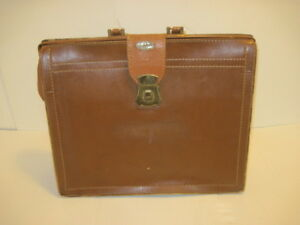 Old Vintage Tommy Traveler Leather Dr Bag Satchel Brief Case Luggage Bag