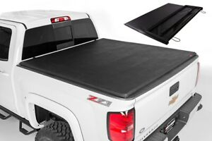 For 1988 2000 Chevy Silverado 6 5ft Short Bed Tri Fold Lock Soft Tonneau Cover